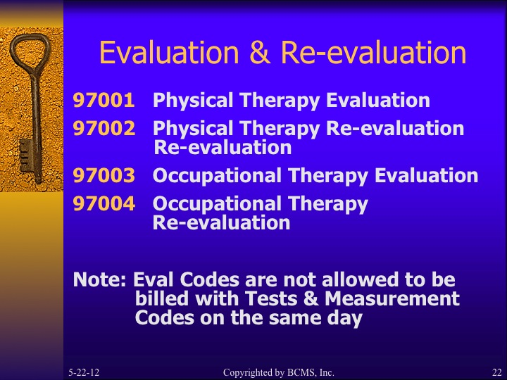 The Following Cpt 2016 Codes For Occupational Therapy